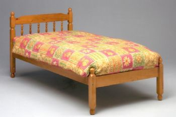 Colonial Spindle Bed In Waxed Finish Frame Only
